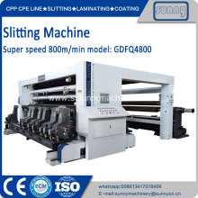 High quality plastic film paper slitting machine
